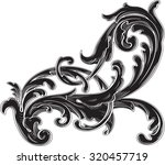 black acanthus is on white   Shutterstock .eps vector #320457719