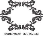 black victorian frame on white | Shutterstock .eps vector #320457833