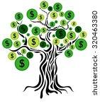 money concept. money tree... | Shutterstock . vector #320463380