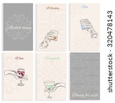 set pages for alcohol menu on... | Shutterstock .eps vector #320478143