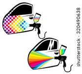 painting cars and car parts... | Shutterstock .eps vector #320490638