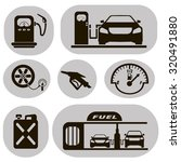 set of black icons gas station... | Shutterstock .eps vector #320491880