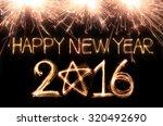 happy new year 2016 written... | Shutterstock . vector #320492690