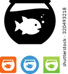 fish swimming in a fish bowl.   Shutterstock .eps vector #320493218