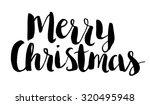 merry christmas text. brush... | Shutterstock .eps vector #320495948