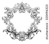 vintage baroque frame border... | Shutterstock .eps vector #320496323