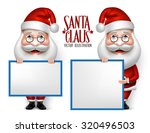 set of 3d realistic santa claus ... | Shutterstock .eps vector #320496503