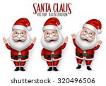 set of 3d realistic santa claus ... | Shutterstock .eps vector #320496506