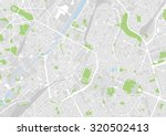 vector map of the city of... | Shutterstock .eps vector #320502413