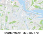 vector map of the city of... | Shutterstock .eps vector #320502470