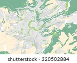vector map of the city of... | Shutterstock .eps vector #320502884