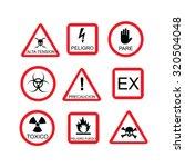 illustration of danger sign ... | Shutterstock . vector #320504048