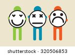 people holding different... | Shutterstock .eps vector #320506853