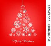 vector stylized christmas tree... | Shutterstock .eps vector #320524298