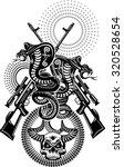 snake tattoo cobra | Shutterstock .eps vector #320528654