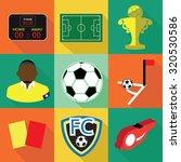 modern flat soccer icons set... | Shutterstock .eps vector #320530586