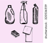 set of detergent container ... | Shutterstock .eps vector #320536559