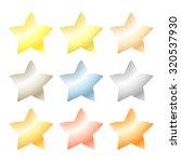 set of vector star of platinum  ... | Shutterstock .eps vector #320537930