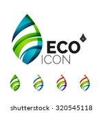 set of abstract eco leaf icons  ... | Shutterstock .eps vector #320545118