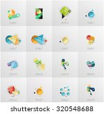 set of abstract geometric... | Shutterstock .eps vector #320548688