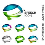 set of abstract speech bubble... | Shutterstock . vector #320549588