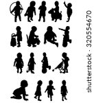 Silhouettes Of A Baby