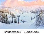 ski center of vogel  triglav... | Shutterstock . vector #320560058
