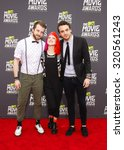 Small photo of CULVER CITY, CA - APRIL 14, 2013: Paramore at the 2013 MTV Movie Awards held at the Sony Pictures Studios in Culver City, CA on April 14, 2013.