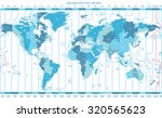 soft tints of blue worldwide... | Shutterstock .eps vector #320565623