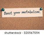 boost your metabolism | Shutterstock . vector #320567054