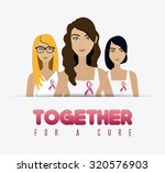 fight against breast cancer... | Shutterstock .eps vector #320576903