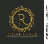 r letter royal place boutique... | Shutterstock .eps vector #320584994