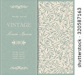 vintage invitation card with... | Shutterstock .eps vector #320587163