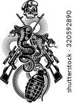 snake tattoo cobra  | Shutterstock .eps vector #320592890