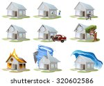 big set house insurance.... | Shutterstock .eps vector #320602586