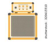 amplifier icon. flat design.   Shutterstock .eps vector #320615510
