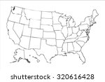 isolated political usa map of... | Shutterstock . vector #320616428