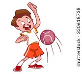 cheerful child playing in... | Shutterstock .eps vector #320618738