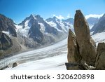 the panoramic view of glacier... | Shutterstock . vector #320620898