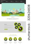 modern green website template...