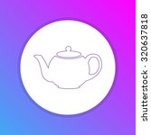 flat design icon   tea pot