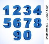 Set of vector numbers, from 1 to 0. Eps 10. | Shutterstock vector #320645204