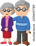 cartoon elderly couple isolated ... | Shutterstock .eps vector #320645789