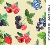 berry seamless pattern with... | Shutterstock . vector #320645819