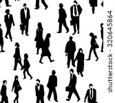 hand drawn crowd people... | Shutterstock .eps vector #320645864