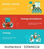 business training horizontal... | Shutterstock . vector #320646116
