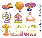 amusement park funfair carnival ... | Shutterstock . vector #320646260