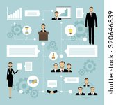 business meeting concept with... | Shutterstock . vector #320646839