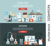 chemistry horizontal banner set ... | Shutterstock . vector #320649296