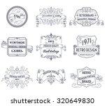vintage retro design premium... | Shutterstock . vector #320649830